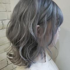 ナチュラルグラデーション コントラストハイライト ボブ グラデーションカラー ヘアスタイルや髪型の写真・画像