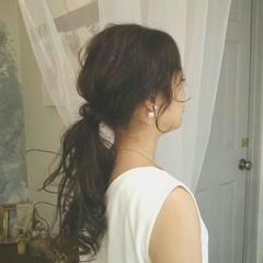 ロング ナチュラル フェミニン 夏 ヘアスタイルや髪型の写真・画像