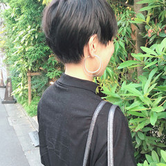 ショートマッシュ ナチュラル 黒髪 マッシュ ヘアスタイルや髪型の写真・画像