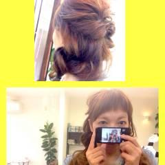 ナチュラル 簡単 ガーリー ヘアアレンジ ヘアスタイルや髪型の写真・画像