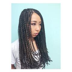 ストリート ヘアアレンジ 外国人風 暗髪 ヘアスタイルや髪型の写真・画像