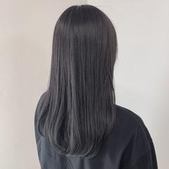 ロング ブルーブラック ネイビーブルー モード ヘアスタイルや髪型の写真・画像