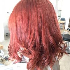 巻き髪 ピンク ヴァイオレット ガーリー ヘアスタイルや髪型の写真・画像