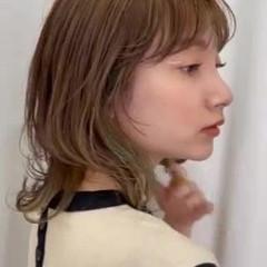 ひし形シルエット 大人可愛い ミディアム ナチュラル ヘアスタイルや髪型の写真・画像