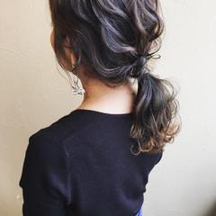 ロング 外国人風カラー ガーリー ヘアアレンジ ヘアスタイルや髪型の写真・画像