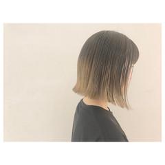 ナチュラル モード ワンレングス ボブ ヘアスタイルや髪型の写真・画像