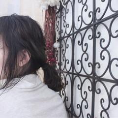 外国人風 簡単ヘアアレンジ アンニュイ 秋 ヘアスタイルや髪型の写真・画像