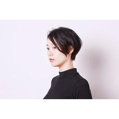 暗髪 コンサバ 黒髪 アッシュ ヘアスタイルや髪型の写真・画像