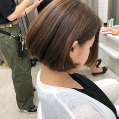 オフィス コンサバ ボブ ヘアスタイルや髪型の写真・画像