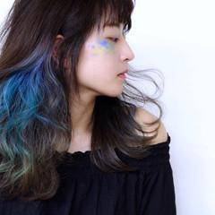 モード ハイトーン ロング ハイトーンカラー ヘアスタイルや髪型の写真・画像