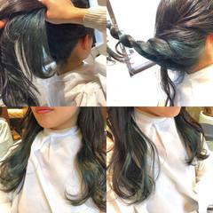 暗髪 ハイライト 外国人風 ガーリー ヘアスタイルや髪型の写真・画像