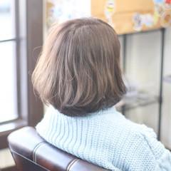 ゆるふわ ボブ 圧倒的透明感 ナチュラル ヘアスタイルや髪型の写真・画像