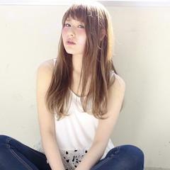 前髪あり ロング 外国人風 愛され ヘアスタイルや髪型の写真・画像