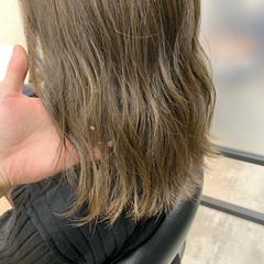 ヘアカラー ブリーチなし ベージュ グレージュ ヘアスタイルや髪型の写真・画像