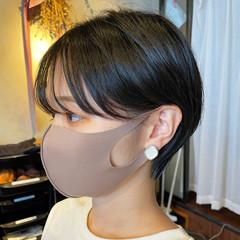 ナチュラル 小顔ヘア 小顔ショート ショート ヘアスタイルや髪型の写真・画像