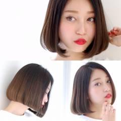 ガーリー 外国人風 グラデーションカラー ボブ ヘアスタイルや髪型の写真・画像