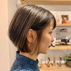 グラデーションカラー 外国人風カラー ショートボブ ハイライト ヘアスタイルや髪型の写真・画像