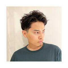 メンズパーマ 刈り上げ ショート メンズ ヘアスタイルや髪型の写真・画像
