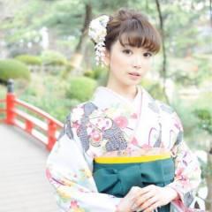 大人かわいい モテ髪 袴 ナチュラル ヘアスタイルや髪型の写真・画像