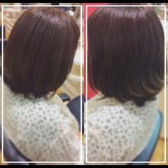 髪質改善トリートメント オフィス 髪質改善カラー ナチュラル ヘアスタイルや髪型の写真・画像
