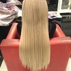 ハイトーン ロング ガーリー エクステ ヘアスタイルや髪型の写真・画像