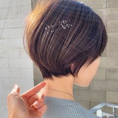 ショート 大人かわいい ショートヘア ナチュラル ヘアスタイルや髪型の写真・画像