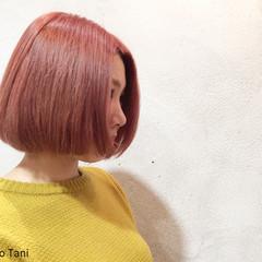 ダブルカラー ガーリー ピンク ハイトーン ヘアスタイルや髪型の写真・画像
