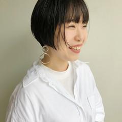 ショート ショートヘア ショートボブ インナーカラー ヘアスタイルや髪型の写真・画像
