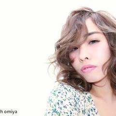 色気 外国人風 アッシュ ボブ ヘアスタイルや髪型の写真・画像
