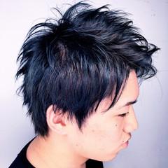 ハイライト メンズ ショート ボーイッシュ ヘアスタイルや髪型の写真・画像