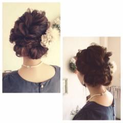 ヘアアレンジ ショート 結婚式 ナチュラル ヘアスタイルや髪型の写真・画像