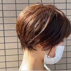 ショートボブ ショートカット ナチュラル ショートヘア ヘアスタイルや髪型の写真・画像