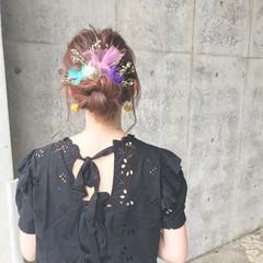 くるりんぱ ヘアアレンジ 簡単ヘアアレンジ 女子会 ヘアスタイルや髪型の写真・画像