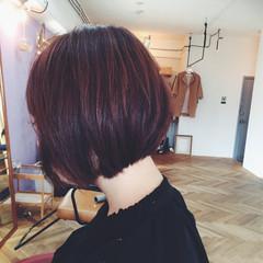 ナチュラル ボブ 色気 冬 ヘアスタイルや髪型の写真・画像