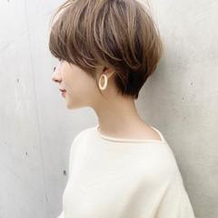 ひし形シルエット ショート 大人可愛い ショートヘア ヘアスタイルや髪型の写真・画像