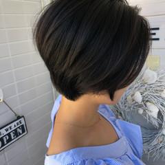 小顔 女子力 ショートボブ 似合わせ ヘアスタイルや髪型の写真・画像