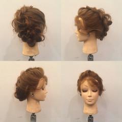 裏編み込み 謝恩会 上品 ヘアアレンジ ヘアスタイルや髪型の写真・画像
