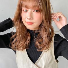 結婚式 韓国ヘア 透明感カラー セミロング ヘアスタイルや髪型の写真・画像