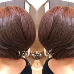 グラデーションカラー モード ボブ 春 ヘアスタイルや髪型の写真・画像