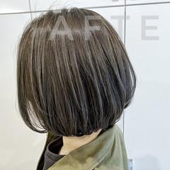 ストリート グレージュ ボブ ハイライト ヘアスタイルや髪型の写真・画像