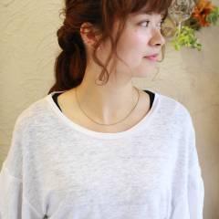 三つ編み フェミニン ヘアアレンジ コンサバ ヘアスタイルや髪型の写真・画像