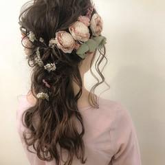 ナチュラル 謝恩会 ロング ヘアアレンジ ヘアスタイルや髪型の写真・画像