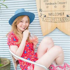 ヘアアレンジ 外国人風 フェミニン 外国人風カラー ヘアスタイルや髪型の写真・画像