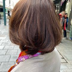 モテボブ ミニボブ 大人ミディアム ボブ ヘアスタイルや髪型の写真・画像