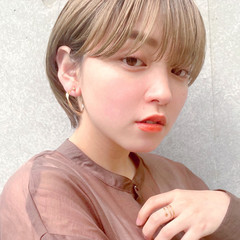 ハイトーンカラー ショートボブ ナチュラル ショート ヘアスタイルや髪型の写真・画像