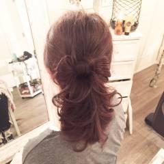 セミロング 愛され ヘアアレンジ コンサバ ヘアスタイルや髪型の写真・画像