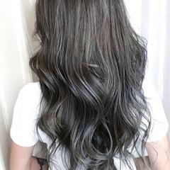 ブルーアッシュ ブルージュ ブルー ネイビー ヘアスタイルや髪型の写真・画像