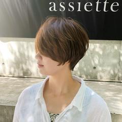 ハンサムショート ショートカット ショート ナチュラル ヘアスタイルや髪型の写真・画像
