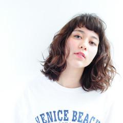 ボブ パーマ 外国人風 ストリート ヘアスタイルや髪型の写真・画像