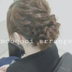 ショート 簡単ヘアアレンジ 大人かわいい 編み込み ヘアスタイルや髪型の写真・画像